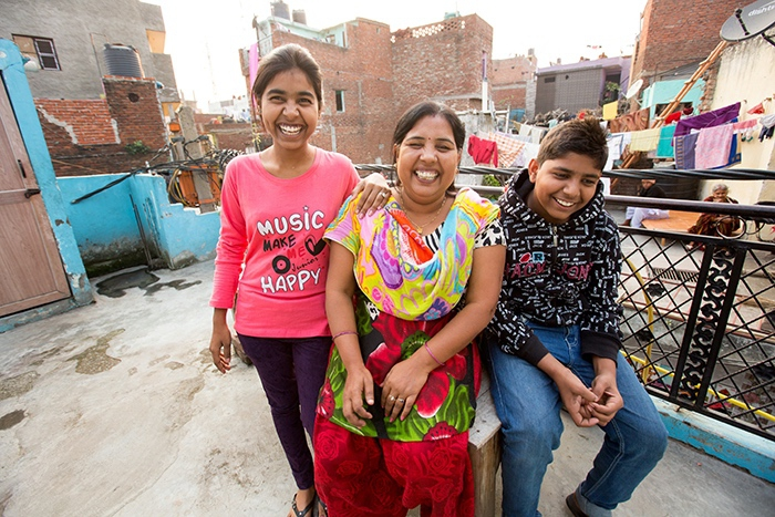 Sunita's children, 18-year-old, Vandana, and 13-year-old, Honey.