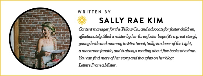 sally kim for the yellow co. blog