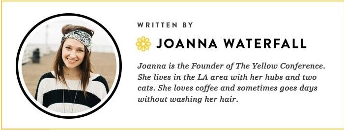 JOANNA WATERFALL--YELLOW 2016