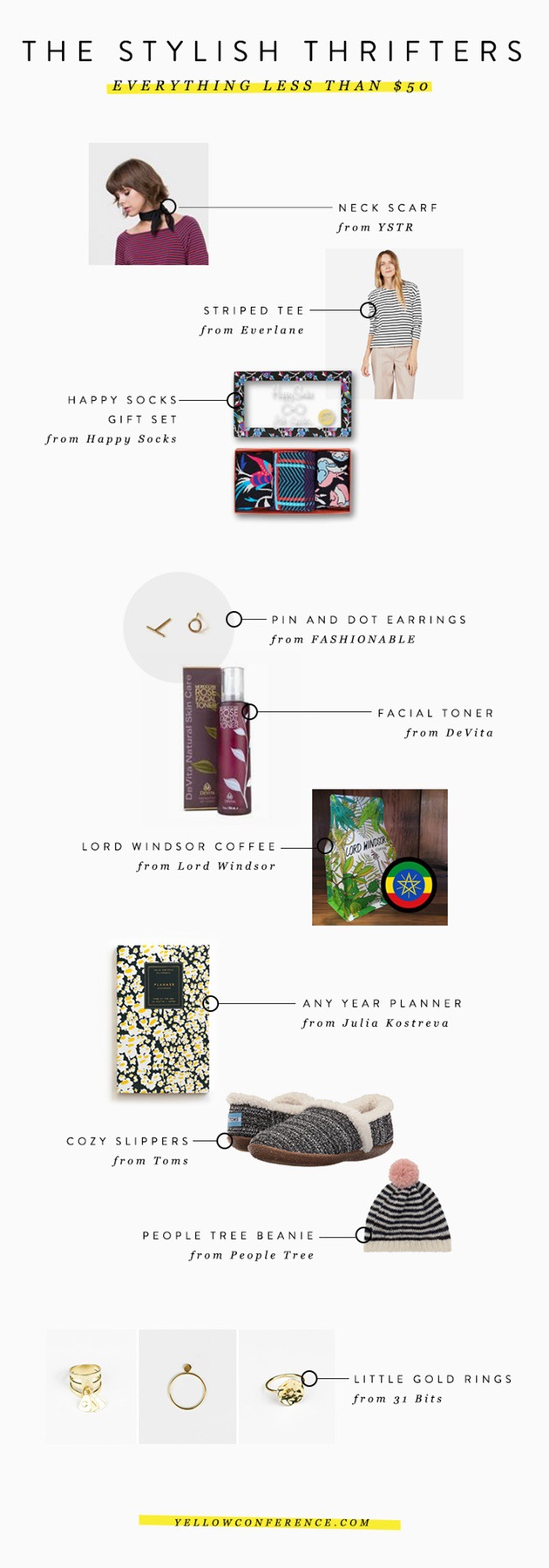 YELLOW CO. BLOG CONSCIOUS GIFT GUIDE