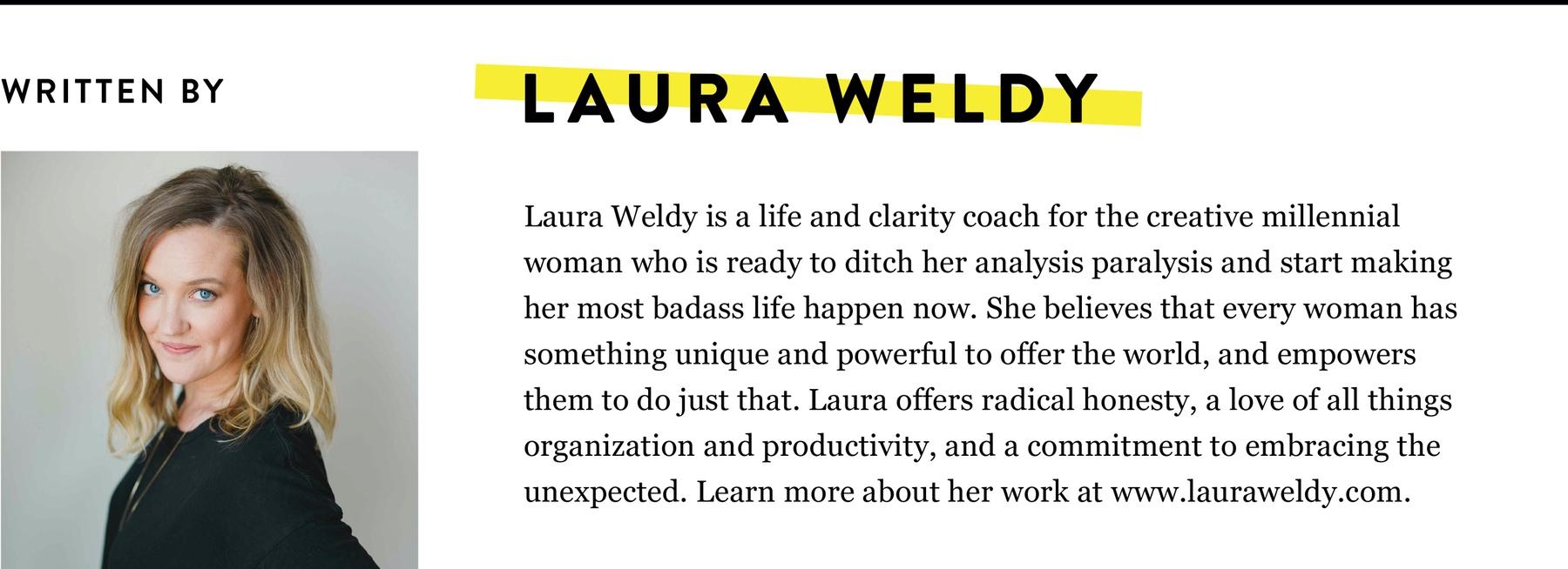 LAURA WELDY BIO