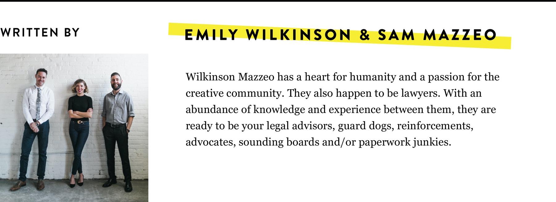 WILKINSON MAZZEO BIO