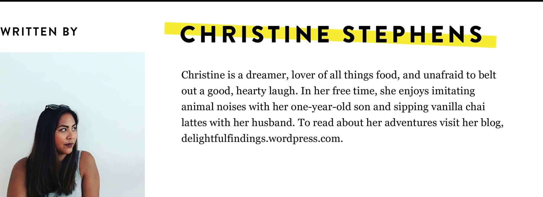 CHRISTINE STEPHENS BIO