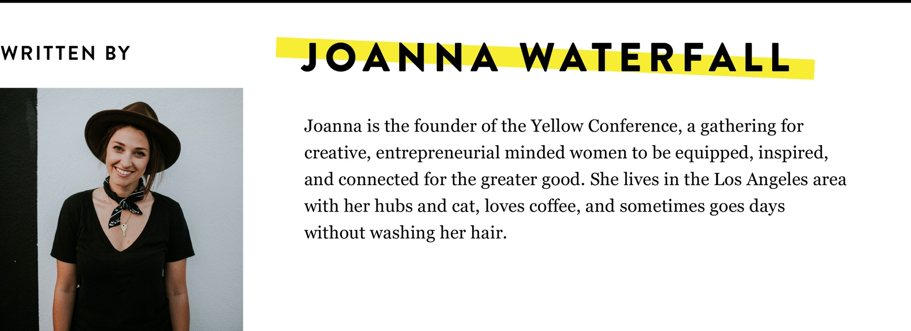 JOANNA WATERFALL BIO
