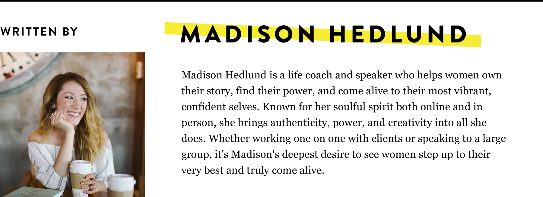 MADISON HEDLUND BIO
