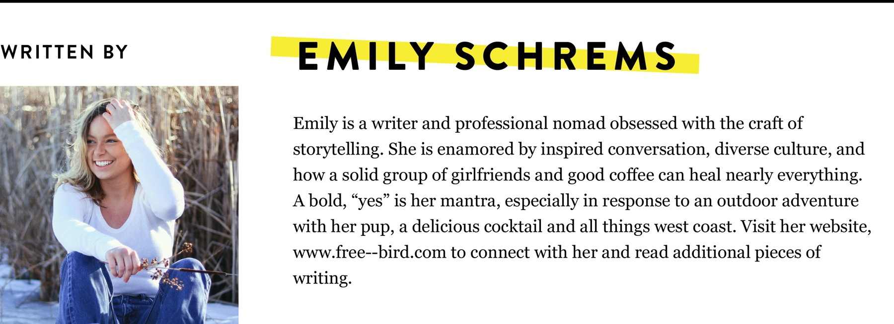 EMILY SCHREMS BIO