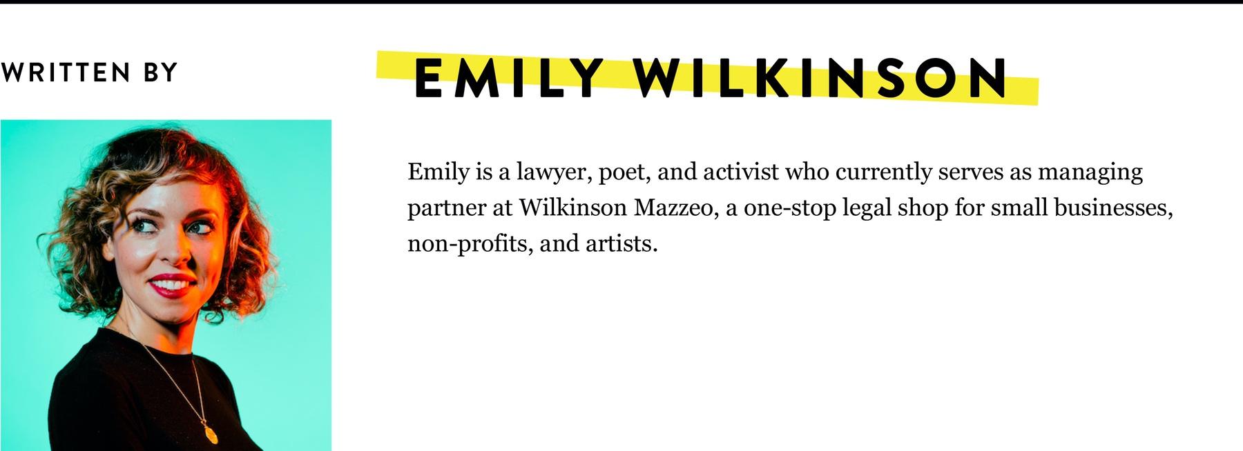 Emily Wilkinson Bio