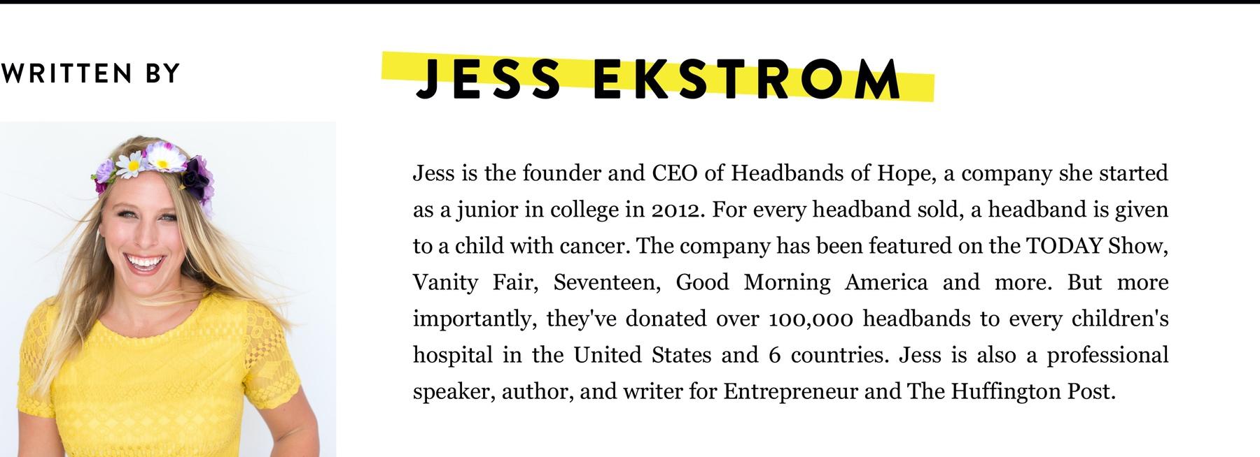 Jess Ekstrom BIO